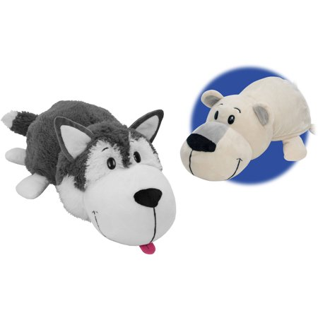 "16"" Husky Dog to Polar Bear FlipAZoo"