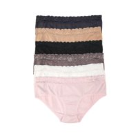Felina | Low Rise Lace Hipster Panties | Smooth Wear | Seamless Undies | 6 Pack