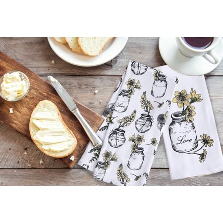 Better Homes & Gardens Rustic Blossoms Kitchen Towels, Set of 2
