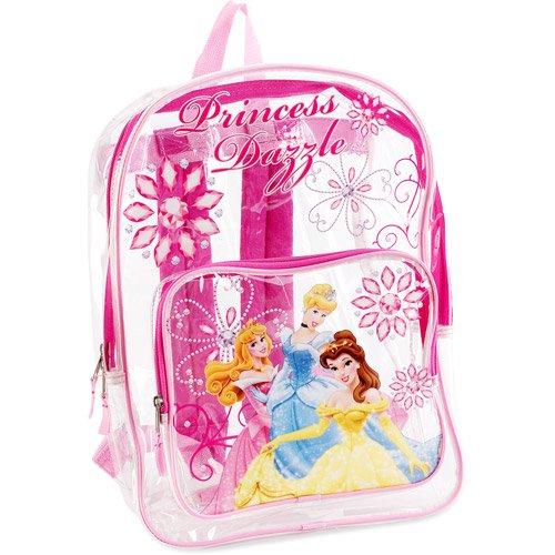 168d0da1ef Disney Princess - Disney Princesses Clear Backpack - Walmart.com