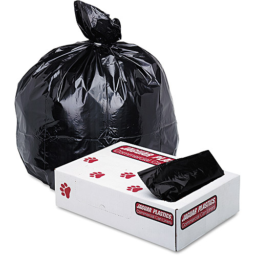 Jaguar Plastics Industrial Strength Low-Density Black Commercial Can Liner, 33 gal, 150 ct