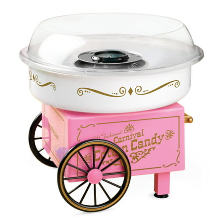 Nostalgia PCM305 Vintage Hard & Sugar-Free Candy Cotton Candy Maker - Cotton Candy Champagne