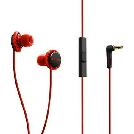Sol Republic 1131-33 Relays Earbuds with 3-Button Mic + Music Control - Flouro Red