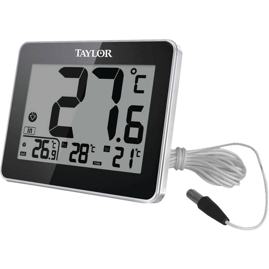 Taylor 1710 Indoor and Outdoor Thermometer with Wired Probe by Taylor