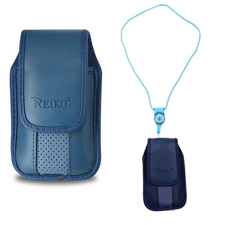 brand new 8135b f3fb9 Around the Neck Hanging Lanyard Magnetic Top Blue Case fits Doro PhoneEasy  626.