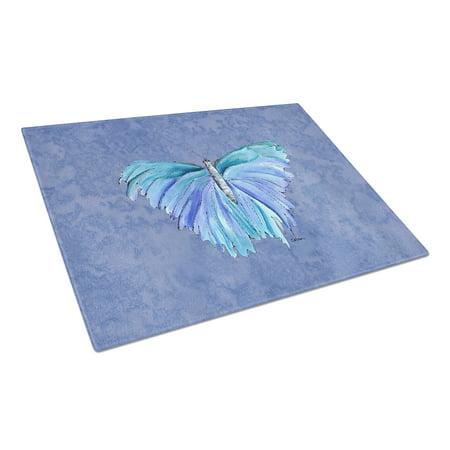 Caroline's Treasures Butterfly on Slate Blue Glass Cutting Board Large](Butterfly Glasses)