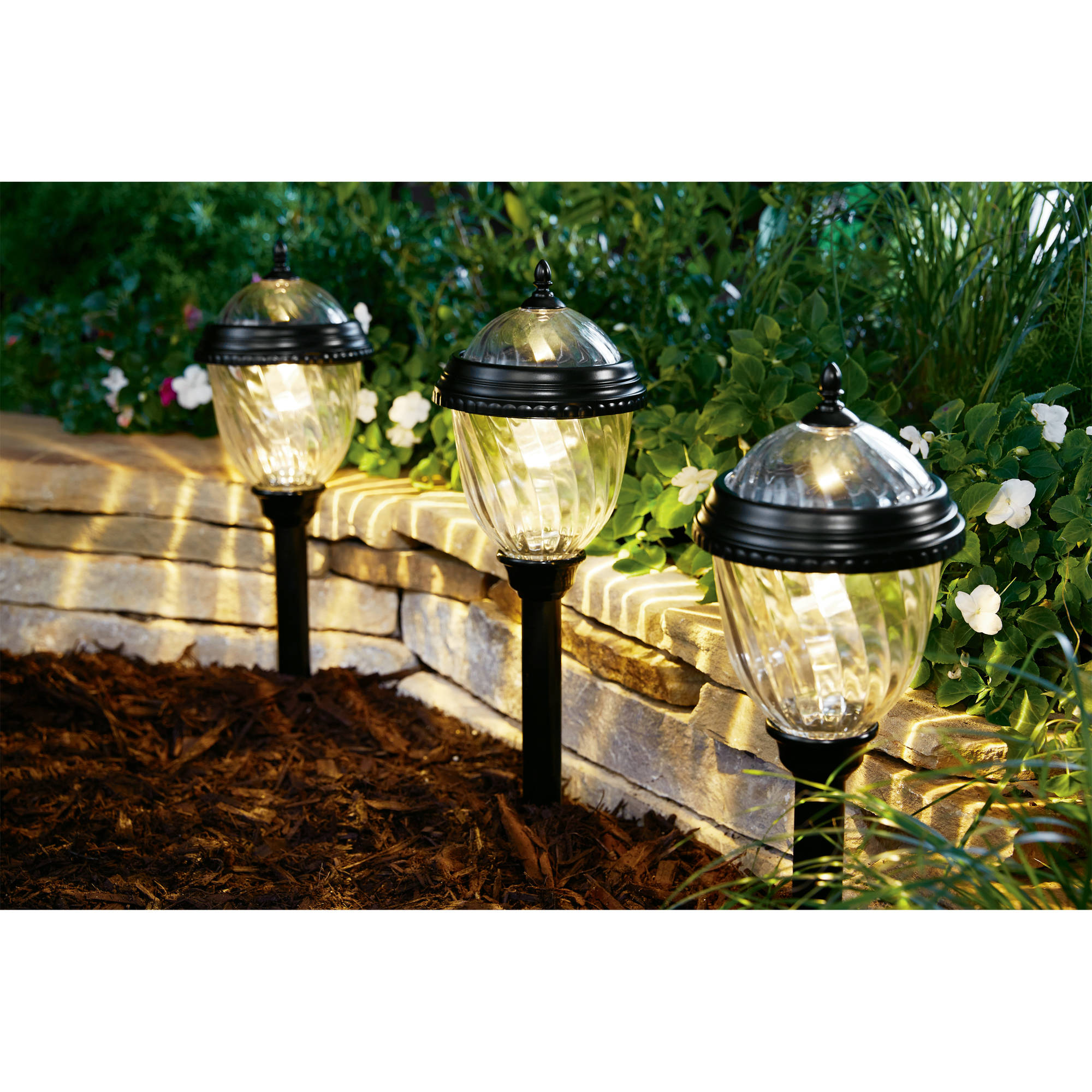 Better Homes and Gardens Castlewood Solar-Powered Landscape Light Set