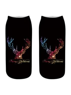 8dace80bf71 Product Image Ladies Christmas Socks Elk Santa 3D Printed Fashion Warm  Christmas Socks