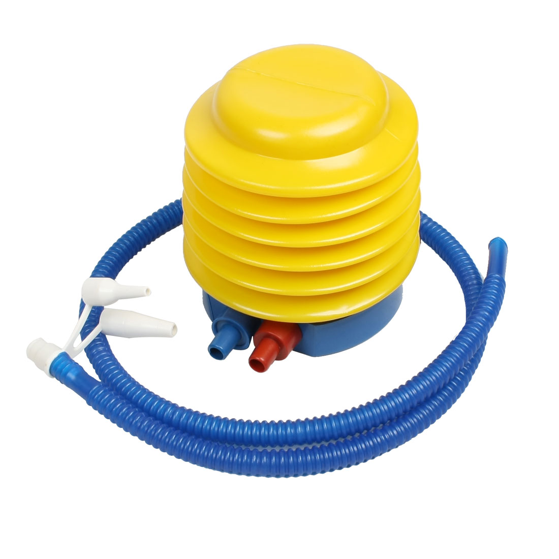 Unique Bargains Air Toy Blue Yellow Red Plastic Manual Air Pump Inflator for Kids