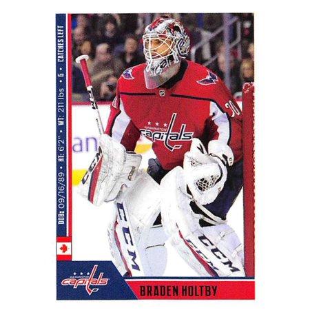2018-19 Panini NHL Stickers #255 Braden Holtby Washington Capitals Hockey Card