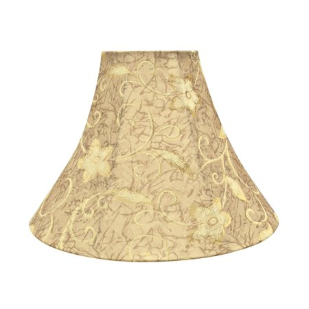 Aspen Creative 70084-21 One-Light Plug-In Swag Pendant Light Conversion Kit with Transitional Bell Fabric Lamp Shade, Brown, 16