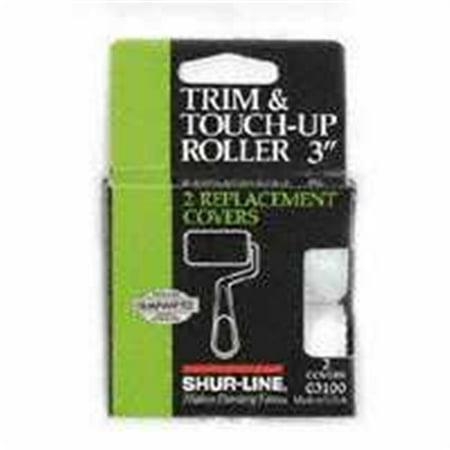 Trim-Touch Up Roller Refill, PK2 SHUR-LINE