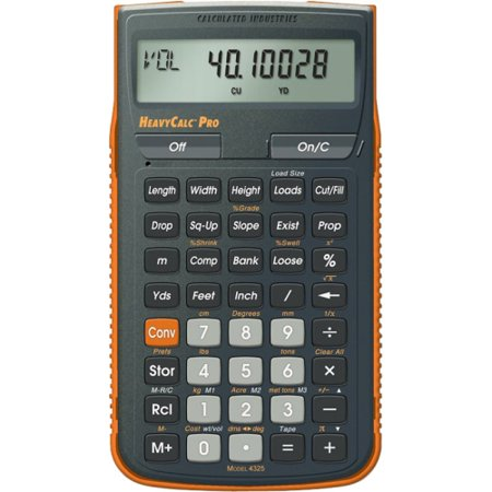 Calculated Industries Heavycalc Pro Construction Calculator 4325