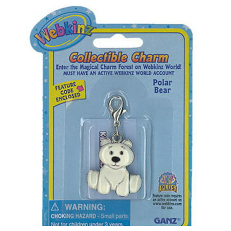 Webkinz Collectible Charm - POLAR (Polar Bear Charm)