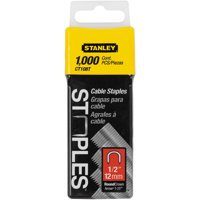 "STANLEY CT108T ROUND CROWN CABLE STAPLES 1/2"" - 1,000 PACK"