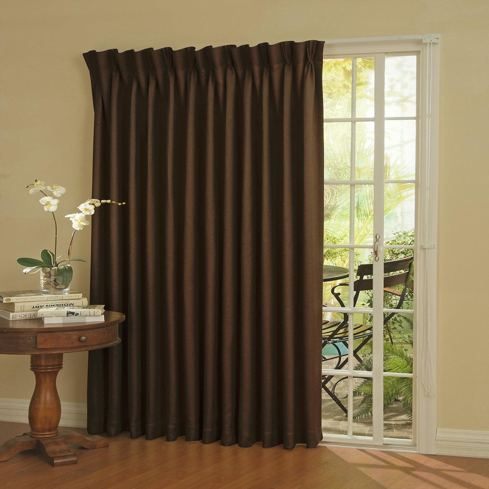Eclipse Thermal Blackout Patio Door Curtain Panel Walmart