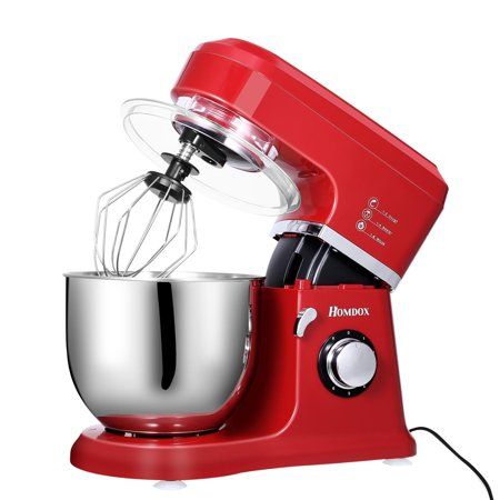 Ecobay 800W Power Stand Mixer, 6-Speed Classic Series Food Mixer with Bowl,