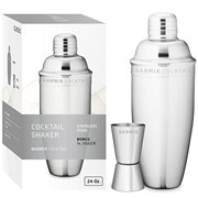 Barmix Cocktail Shaker 24 Ounces, Stainless Steel, Jigger Included by Jiggers