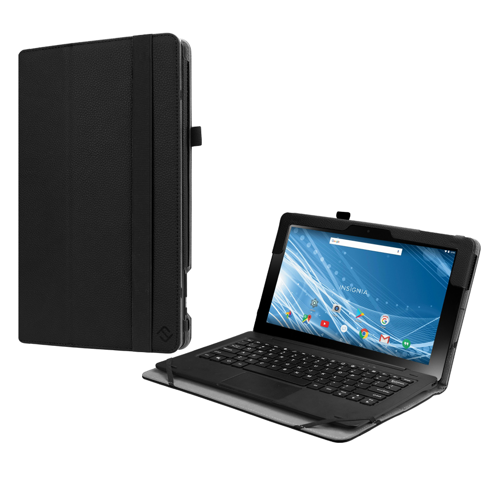For Insignia 11.6 Hybrid Tablet Case (NS-P11A8100/NS-P11W7100), Fintie Slim Premium Vegan Leather Stand Cover Black