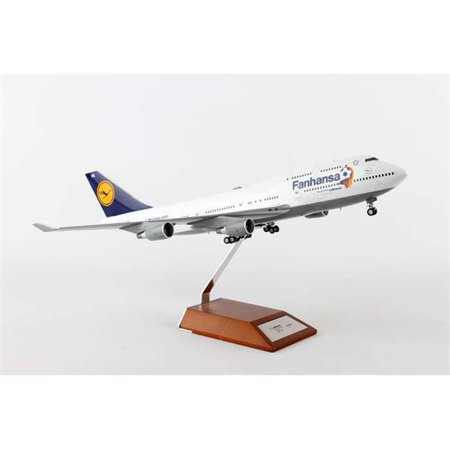 Herpa 200 Scale Commercial Private He557313 1 200 Lufthansa 747 400 Fanhansa With Wood Stand Die Cas