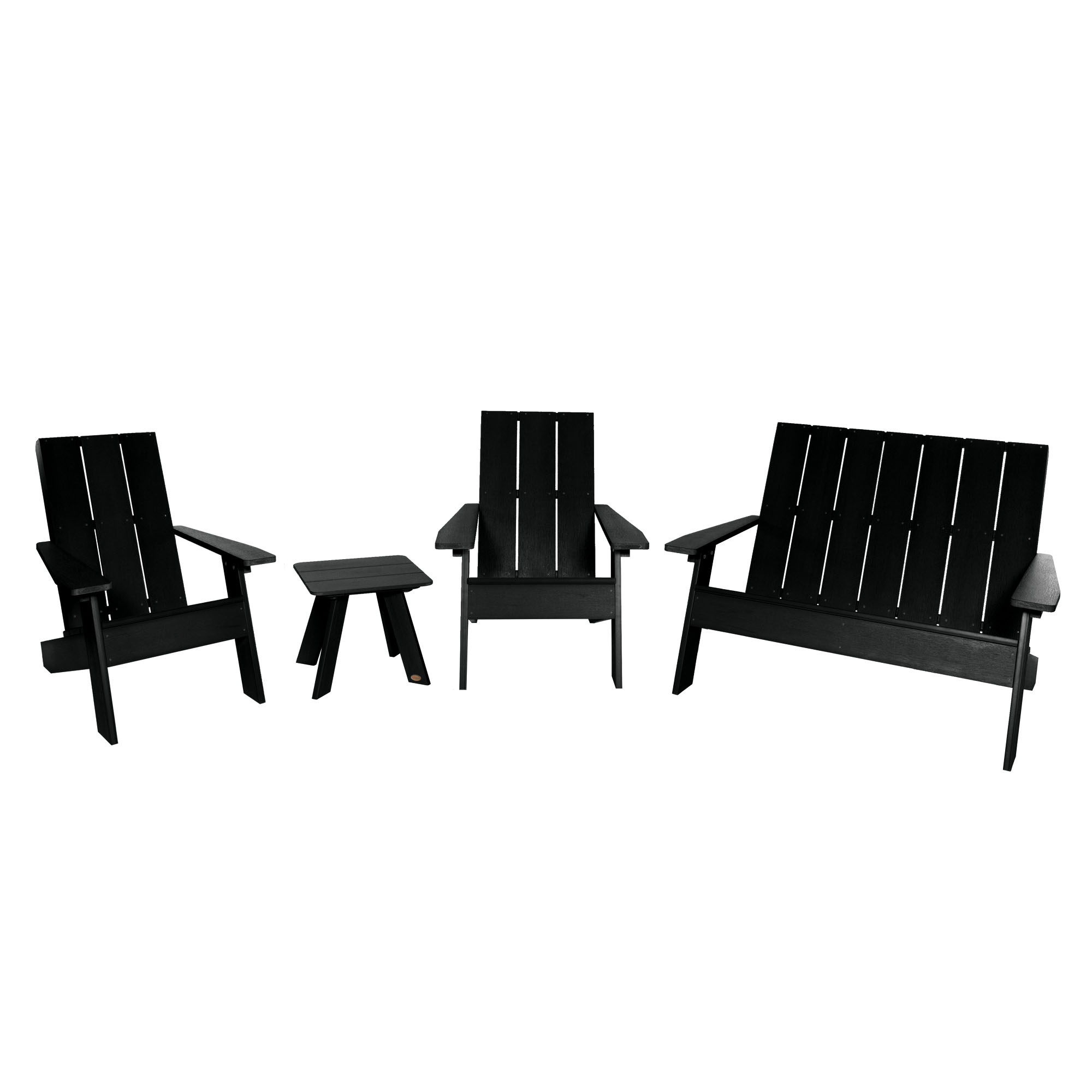 Picture of: 2 Barcelona Modern Adirondack Chair 1 Barcelona Double Wide Modern Adirondack Chair And 1 Barcelona Modern Side Table Walmart Com Walmart Com