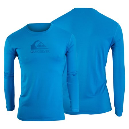 Men's Clothing Ocean Blue Quiksilver Mens Solid Streak Long Sleeve Rashguard