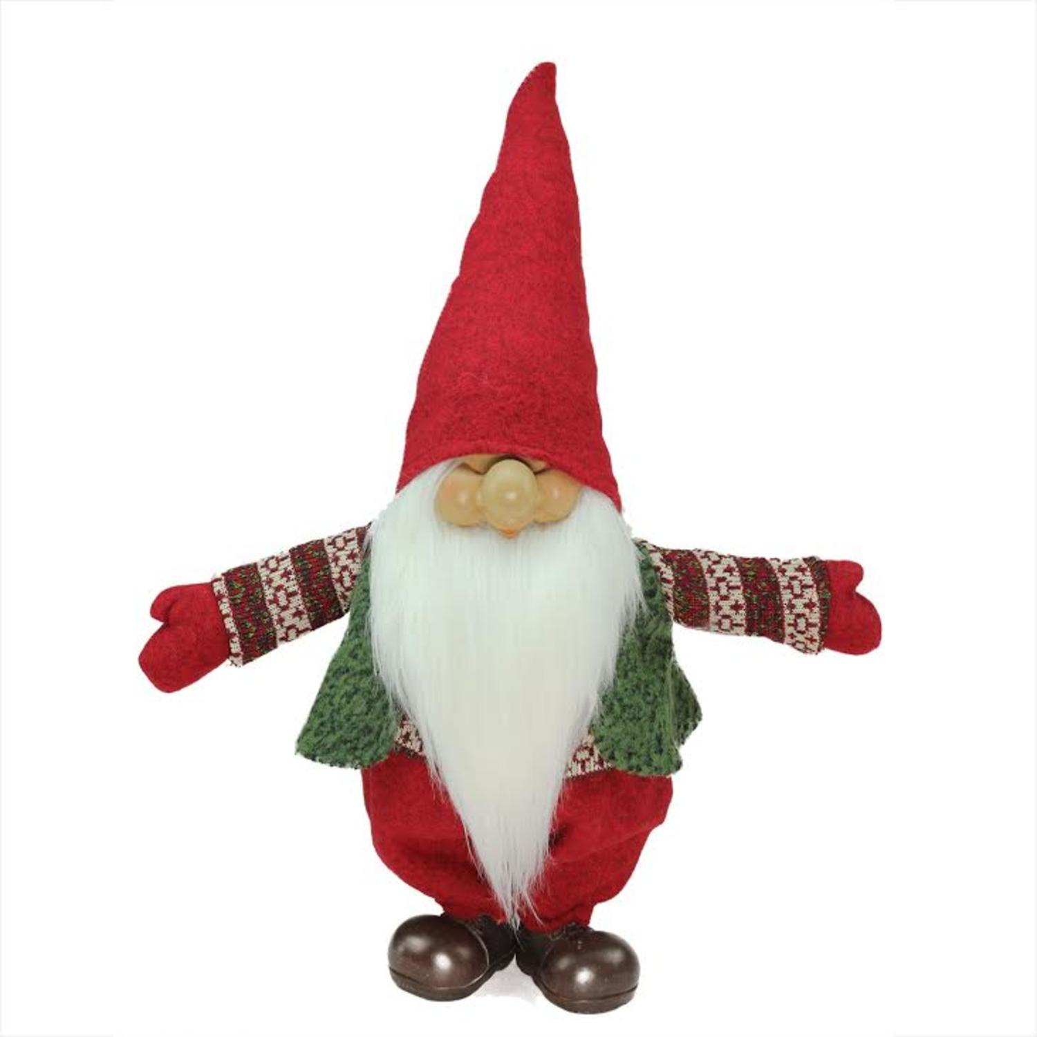 23 red green and white santa gnome christmas tabletop decoration