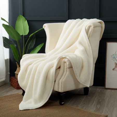 Reafort Ultra Soft Double Layer Sherpa Oversized Throw Blanket