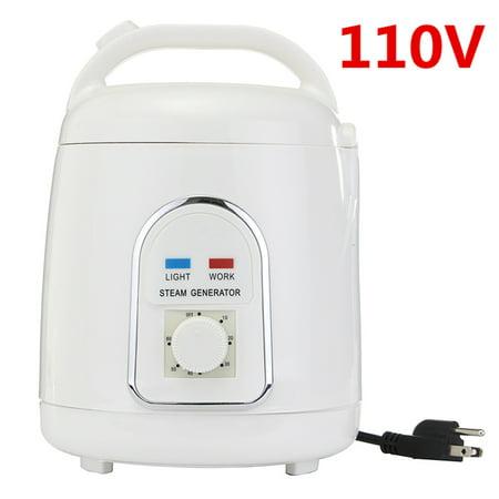 Commercial Steam Generator System - 110V 1.8 L White Electric ABS Plastic Portable Home Steam Pot Steamer Saunas Generator US/EU Plug