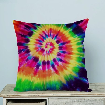 342b67ef6aeed GCKG Colorful Tie Dye Pillow Case Pillow Cover Pillow Protector Two Sides  18 x 18 Inches