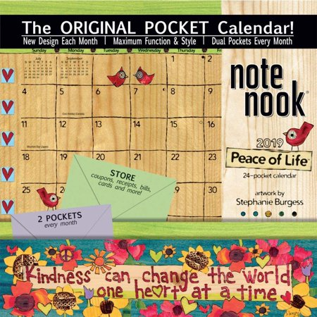 Calendar With Pockets (Wells St. by LANG - 2019 Note Nook Organizational Wall Calendar -