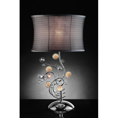 OK Lighting Enigma 30'' H Table Lamp with Oval Shade