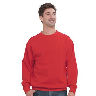 10 Ounce Crewneck Sweatshirt - OTTO 8.0 oz. Cotton Blend Fleece Unisex Classic Crewneck Sweatshirt - Red