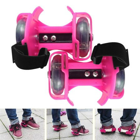 Flashing High Roller Button (3-Colors Light Flashing Roller Small Whirlwind Pulley Adjustable Simply Roller Skating Shoes with Dual Wheels for)