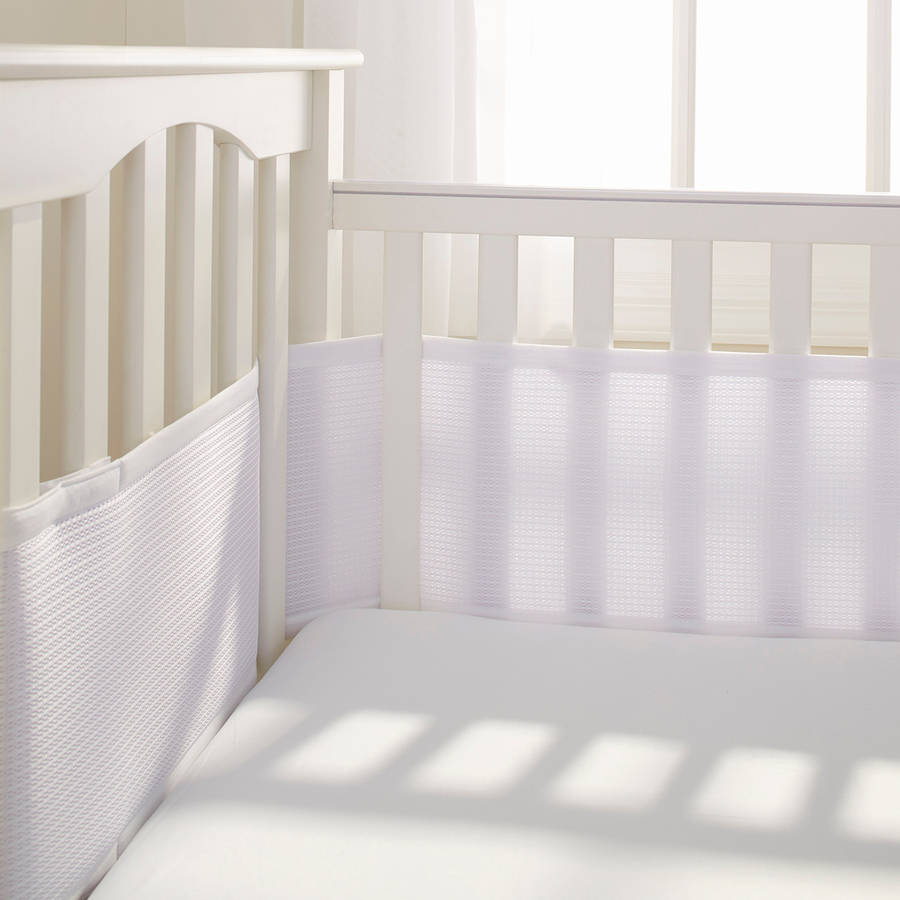 Breathablebaby Classic Breathable Mesh Crib Liner Light Pink