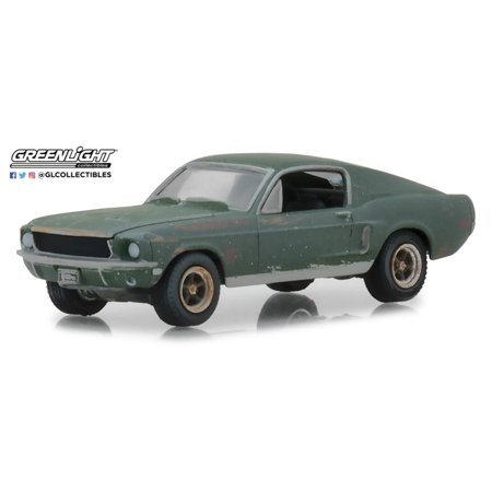 Greenlight 44722 1:64 Steve McQueen Collection (1930-80) - Unrestored 1968 Ford Mustang GT Fastback - 2018 Detroit Auto Show (Hobby Exclusive)