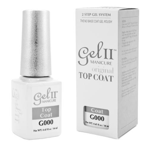 GEL II  0.47floz Polish Help Grow Nails Stronger Healthier UV Soak Off Manicure, CLEAR TOP COAT