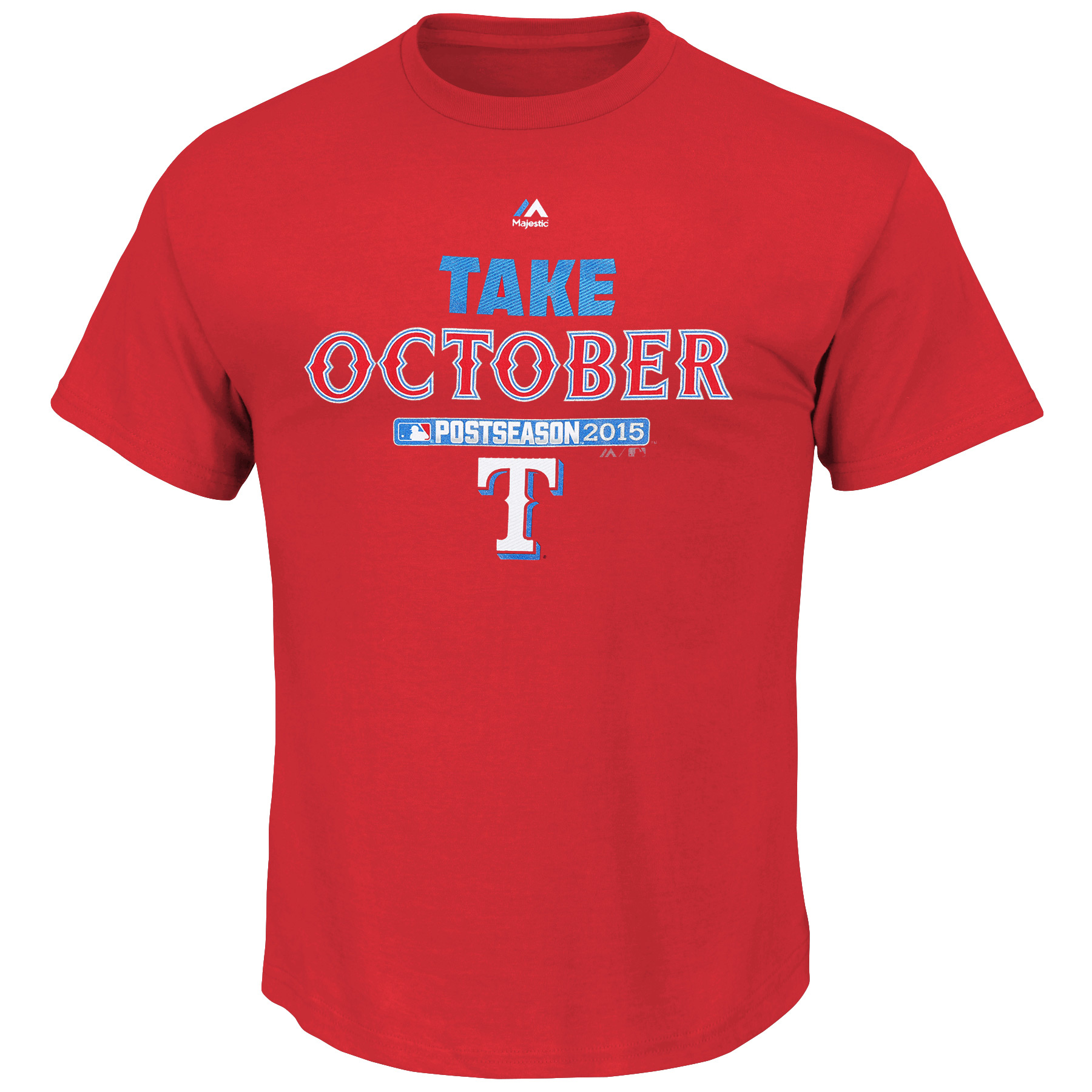 Texas Rangers Majestic Big & Tall 2015 Postseason is Ours T-Shirt - Red