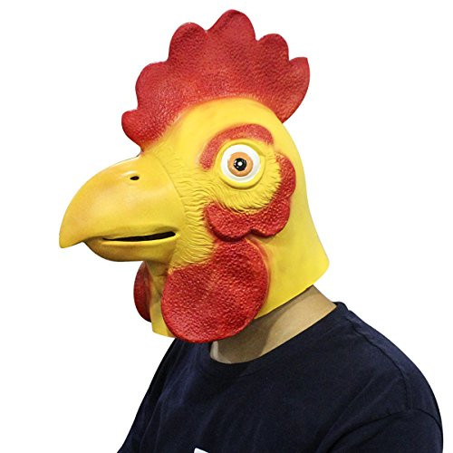 Chicken Rooster Animal Deluxe Latex Adult Full Face Halloween Party Costume Mask