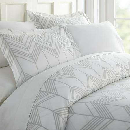 Noble Linens Premium Ultra Soft Alps Chevron Pattern 3 Piece Duvet Cover Set ()