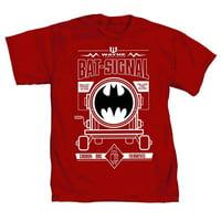 DC Comics Batman 75th Anniversary Bat Signal Mens Red T-Shirt   M