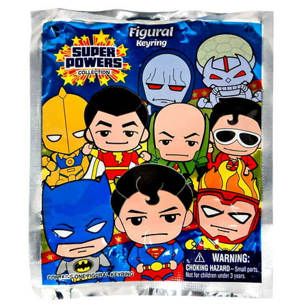 3D Figural Keychains DC Superpowers Mini Figure Keyring Mystery