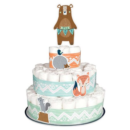 Baby Shower 'We Can Bear-ly Wait' Diaper Cake Kit (8pc) - Elephant Diaper Cake