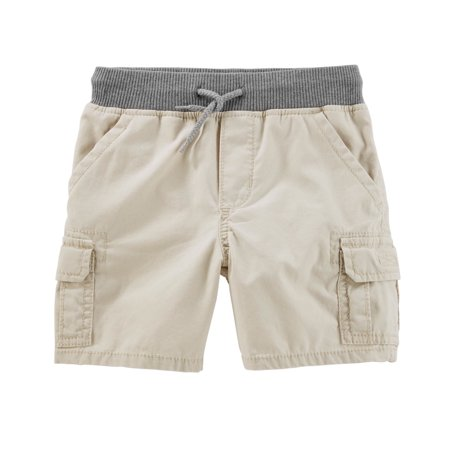 OshKosh B'gosh Boys' Pull On Cargo Shorts - Boys White Linen Shorts