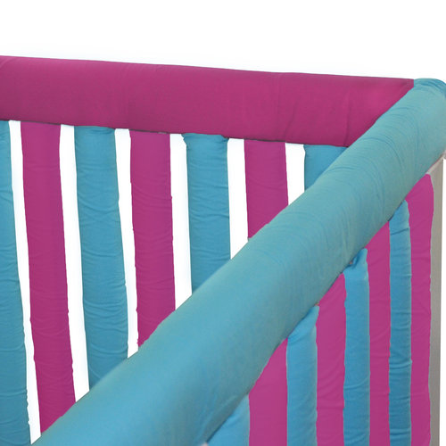"Go Mama Go Designs Fuschia & Turquoise 52"" x 6"" Reversible Teething Guard"