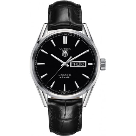Tag Heuer Carrera Automatic Black Dial Black Leather Mens Watch (Watches Tag Heuer For Men Leather)