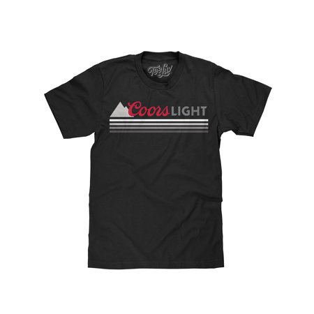 Tee Luv Coors Light Beer Graphic Stripe - T-shirts Lifes Priorities Beer