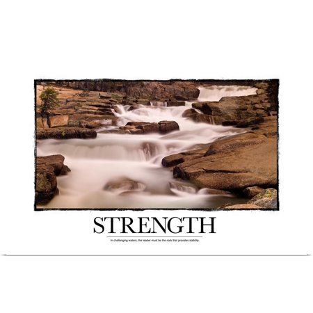 Great Big Canvas Rolled Kate Lillyson Poster Print Entitled Inspirational Motivational Poster In Challenging Waters The Leader Must Be The