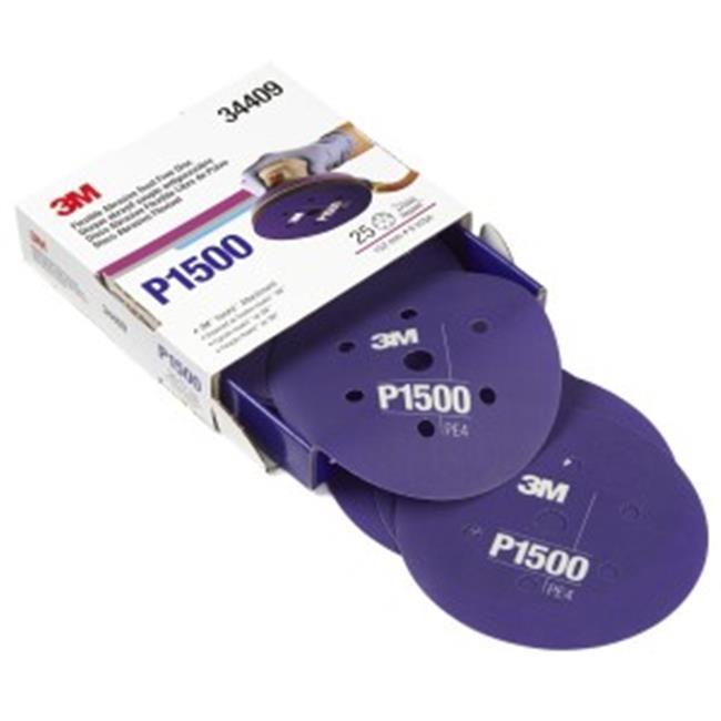 """3M 30667 6/"""" 1500 Grit Purple Finishing Film Hookit Disc 50 Per Box"""