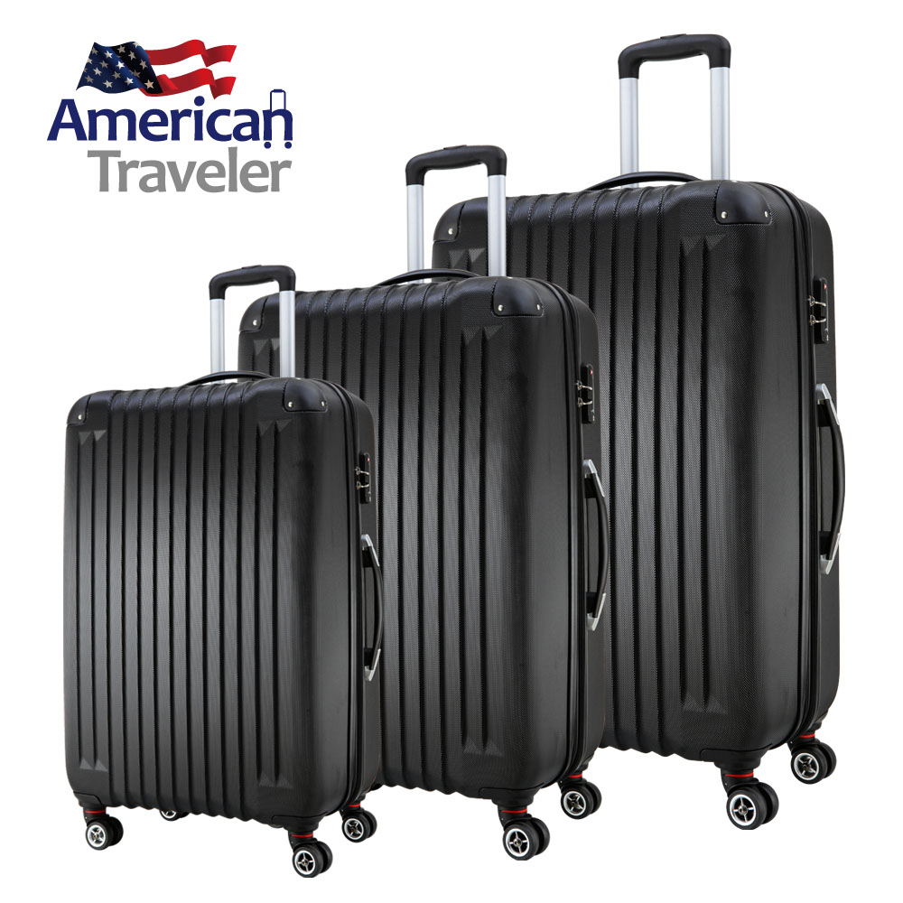 "American Traveler ABS Ultra-Lightweight 28"" Luggage 1-Piece Suitcase with 360 Wheels"